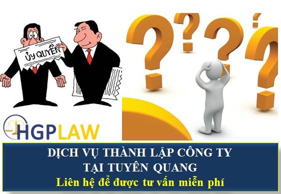 Dịch vụ thành lập công ty tại Tuyên Quang