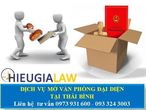 Dịch vụ mở văn phòng đại diện tại Thái Bình