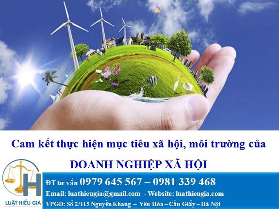 Doanh nghiệp xã hội cam kết thực hiện mục tiêu xã hội và môi trường