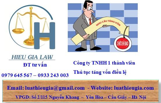 điều kiện tăng vốn công ty TNHH một thành viên