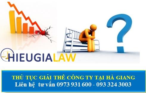 Thủ tục giải thể công ty tại Hà Giang