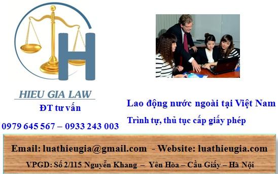 Lao động nước ngoài xin giấy phép tại Việt nam