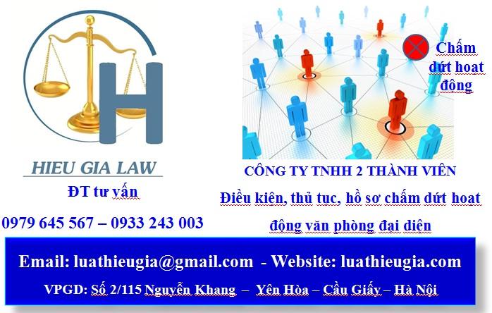 Chấm dứt hoạt động của văn phòng đại diện công ty TNHH 2 thành viên trở lên