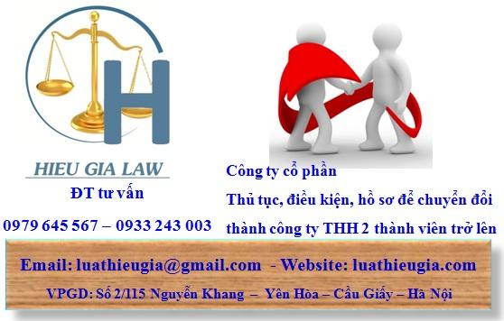 thủ tục chuyển từ công ty cổ phần thành công ty TNHH 2 thành viên trở lên