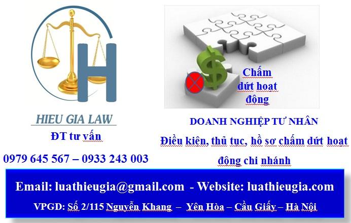 Giải thể chi nhánh của doanh nghiệp tư nhân