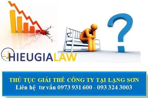 Thủ tục giải thể công ty tại Lạng Sơn
