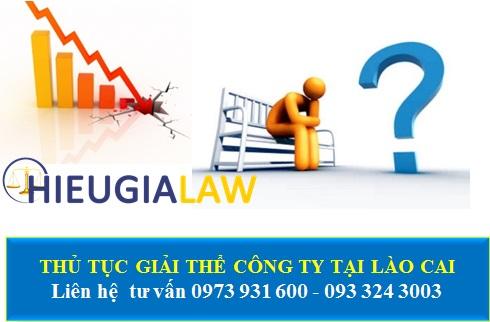 Thủ tục giải thể công ty tại Lào Cai