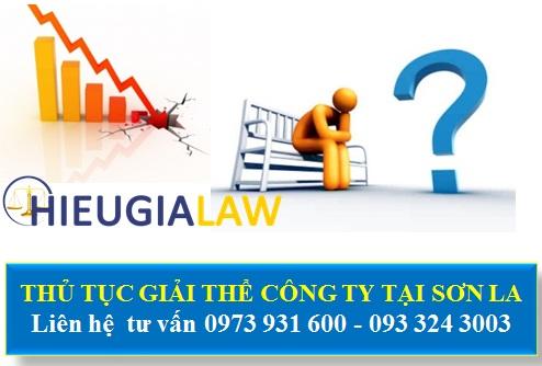 Thủ tục giải thể công ty tại Sơn La