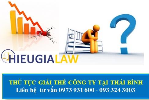 Dịch vụ giải thể công ty tại Thái Bình