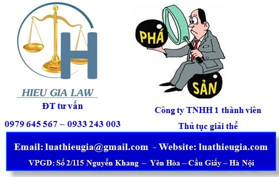 Thủ tục phá sản công ty TNHH 1 thành viên