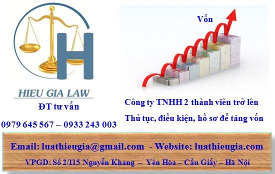 tăng vốn công ty TNHH 2 thành viên trở lên