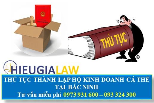 Thủ tục thành lập hộ kinh doanh cá thể tại Bắc Ninh