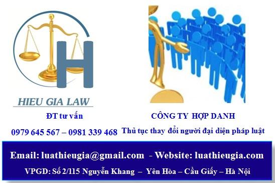 Thủ tục thay đổi người đại diện pháp luật công ty hợp danh