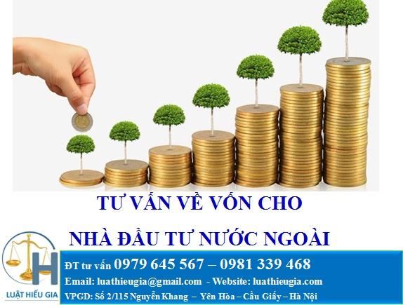 Tư vấn về vốn đầu tư cho nhà đầu tư nước ngoài