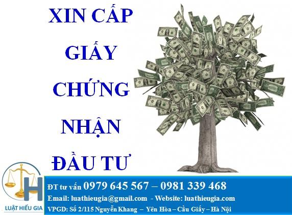 Xin cấp giấy chứng nhận đầu tư
