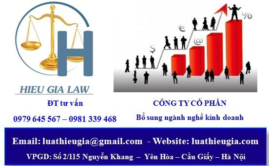 thủ tục bổ sung ngành nghề kinh doanh công ty cổ phần