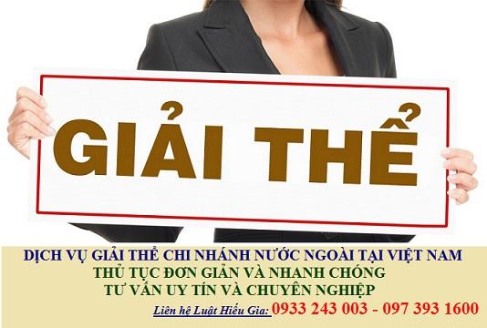 Dịch vụ giải thể chi nhánh nước ngoài tại Việt Nam