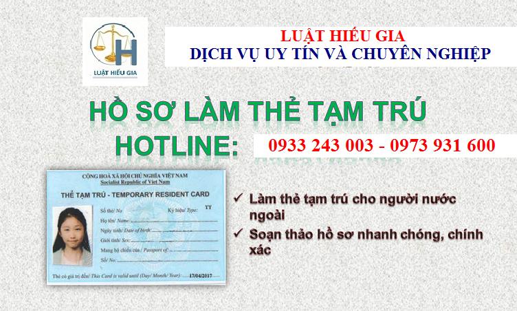 Dịch vụ xin thẻ tạm trú cho người nước ngoài làm việc tại Việt Nam