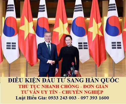 Điều kiện đầu tư sang Hàn Quốc