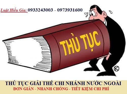 Giải thể chi nhánh công ty nước ngoài tại Việt Nam