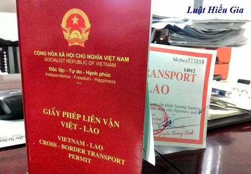 Giấy phép liên vận quốc tế Việt - Lào