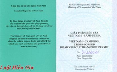 Thủ tục xin giấy phép Việt Nam - Campuchia