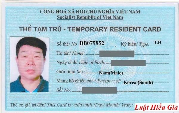 Thẻ tạm trú cho người nước ngoài tại Hà Nội