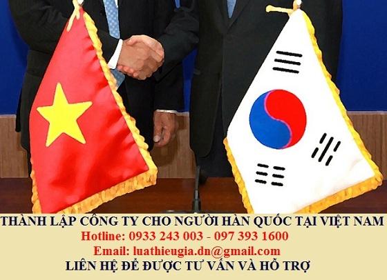 Thành lập công ty cho người Hàn Quốc