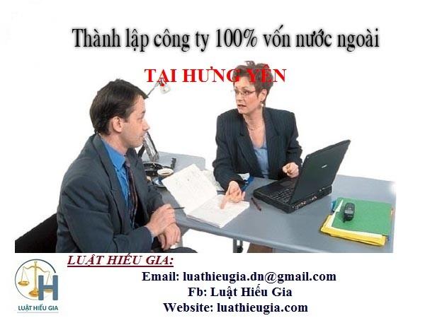 Thành lập công ty cho người nước ngoài tại Hưng Yên