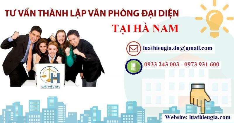 Thành lập văn phòng đại diện tại Hà Nam