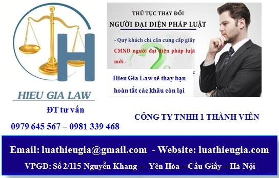 Thủ tục thay đổi người đại diện công ty TNHH 1 thành viên