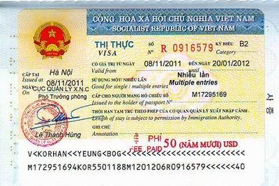 thủ tục cấp thị thực cho người nước ngoài
