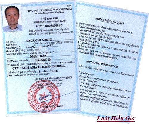 Thủ tục cấp thẻ tạm trú tại Hải Dương