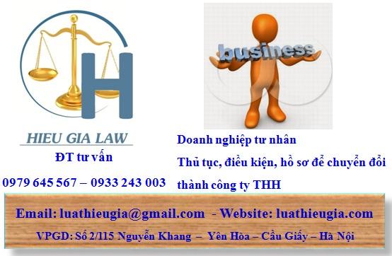 Thủ tục chuyển loại hình doanh nghiệp tư nhân thành công ty TNHH