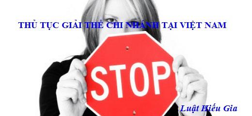 Thủ tục giải thể chi nhánh tại Việt Nam