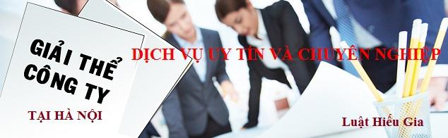 Thủ tục giải thể công ty tại Hà Nội