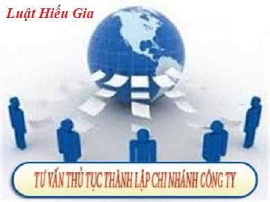 Thủ tục mở chi nhánh tại Hà Nội