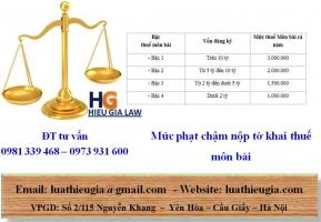 Bậc Thuế Môn Bài Phải Nộp với hộ kinh doanh cá thể và doanh nghiệp