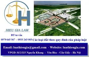 Các loại đất theo quy đinh của pháp luật và căn cứ phân loại đất đai