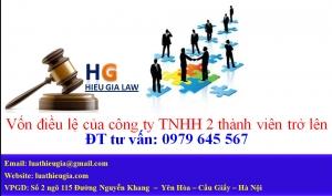 Các nội dung về vốn của công ty TNHH 2 thành viên