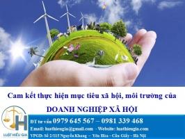 Cam kết thực hiện mục tiêu xã hội, môi trường của doanh nghiệp xã hội