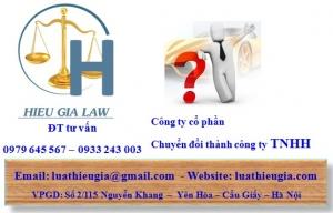 Chuyển đổi công ty cổ phần thành công ty TNHH một thành viên