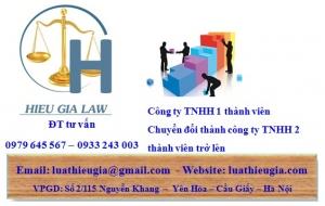 Chuyển đổi công ty TNHH một thành viên thành công ty TNHH 2 thành viên trở lên