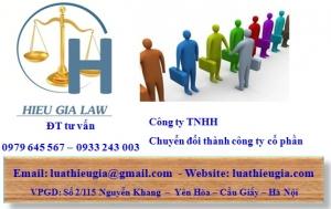 Chuyển đổi công ty TNHH thành công ty cổ phần