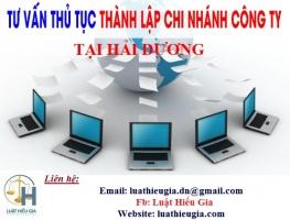 Đăng ký chi nhánh công ty tại Hải Dương