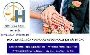 Đăng ký kết hôn với người nước ngoài tại Hải Phòng