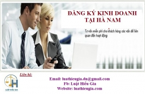Đăng ký kinh doanh tại Hà Nam