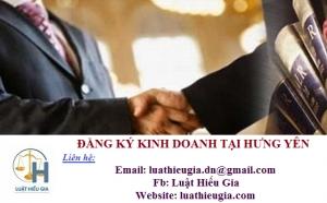 Đăng ký kinh doanh tại Hưng Yên