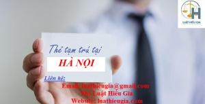 Điều kiện làm thẻ tạm trú cho người nước ngoài tại Hà Nội