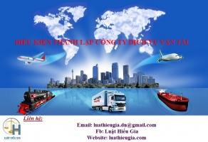 Điều kiện thành lập công ty dịch vụ vận tải